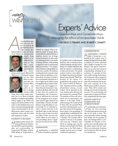 Experts' Advice