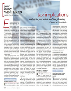 Tax implications: end of the year estate and tax planning